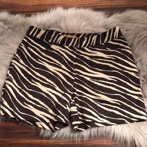 Ellen Tracy animal print shorts
